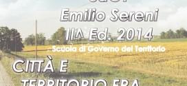 SCUOLA DI GOVERNO DEL TERRITORIO – SdGT Emilio Sereni – II Edizione 2014