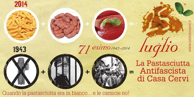 IL 25 LUGLIO e la Storica Pastasciutta Antifascista – Edizione 2014