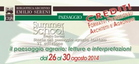 SUMMER SCHOOL EMILIO SERENI – VI edizione > 26-30 agosto 2014