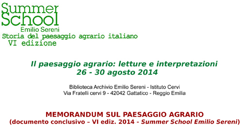 MEMORANDUM_paesaggio agrario_documento conclusivo summer school2014-1