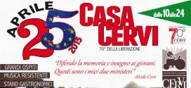 25 APRILE A CASA CERVI