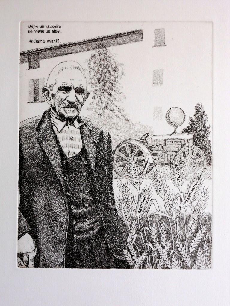 434 - Maurizio Boiani - Il Patriarca - 2013 - Acquaforte - mm 249 x 317