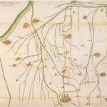Tra la via Emilia e il Po mappa  xviii sec