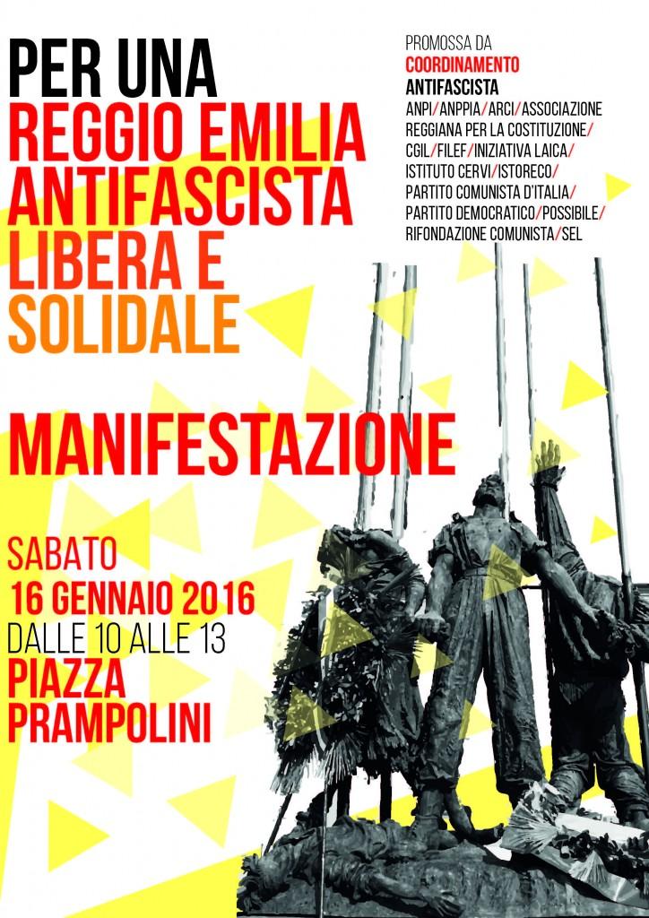 Manifestazione antifascista 16 gennaio 2016