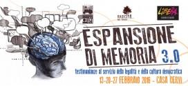 ESPANSIONE DI MEMORIA 3.0 > 13-20-27 febbraio 2016