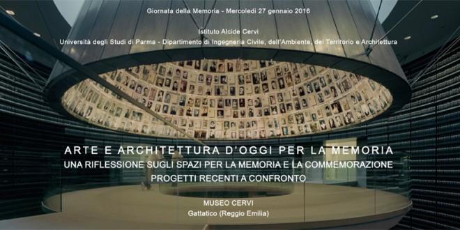 ARTE E ARCHITETTURA D'OGGI PER LA MEMORIA > 27 gennaio 2016