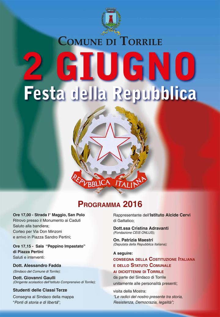 manifesto festa repubblica 2 giugno 2016