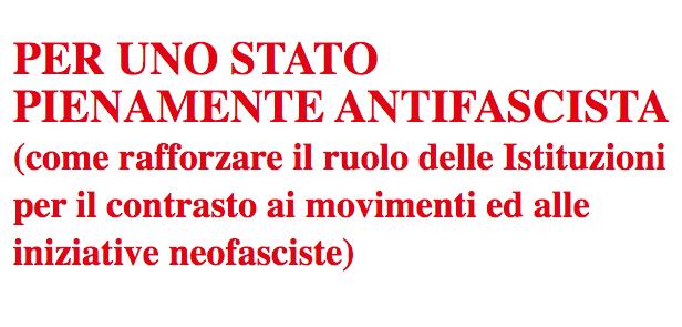 Per uno Stato pienamente antifascista: consegna documento a Pietro Grasso