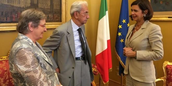 Per uno Stato pienamente antifascista: consegna documento a Laura Boldrini