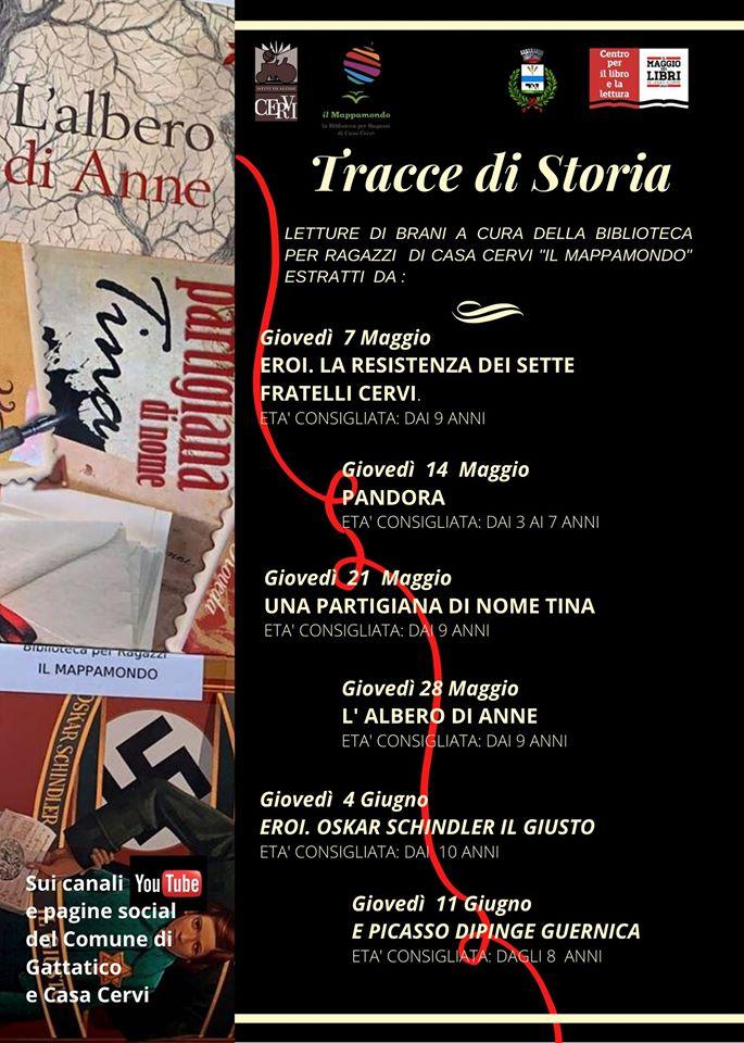 """La locandina di """"Tracce di Storia"""""""